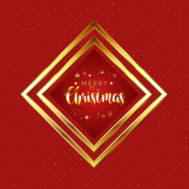 Red and gold christmas Free Vector