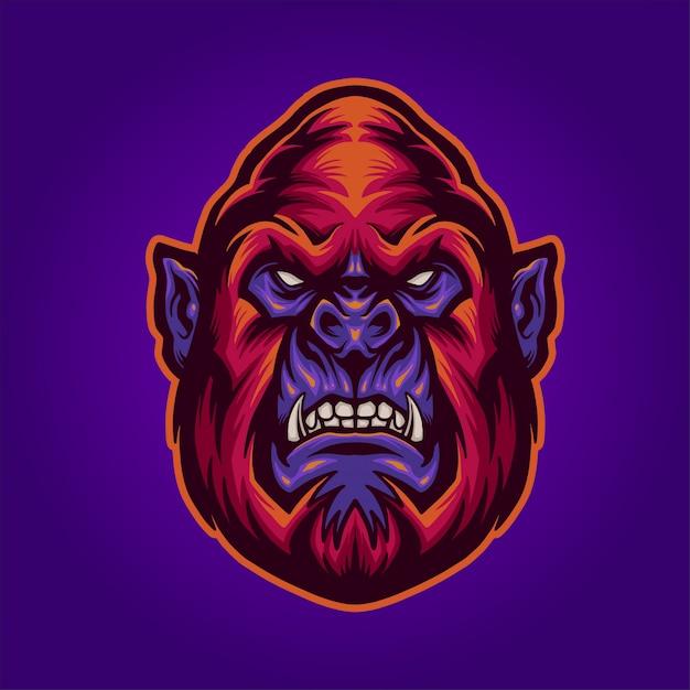 The red gorilla Premium Vector