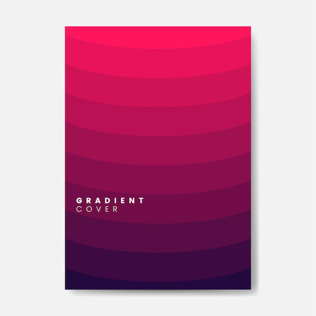 Red gradient cover graphic design Free Vector