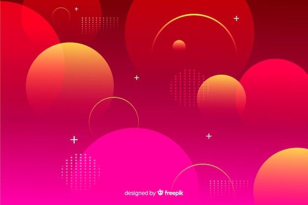 Free Vector Red Gradient Geometrical Spheres Background