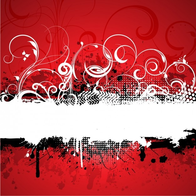 red grunge abstract background vector free download