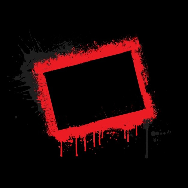 red grunge border on black background vector | free download