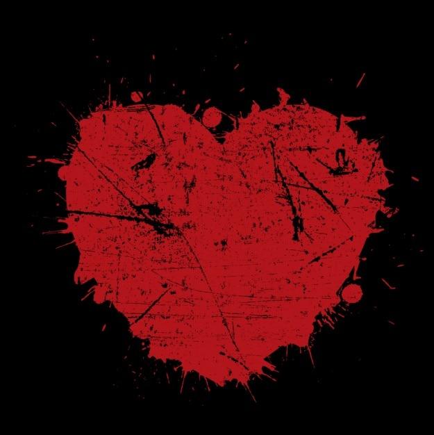 red grunge heart background vector free download rh freepik com grunge hearts generator grunge heart vector free