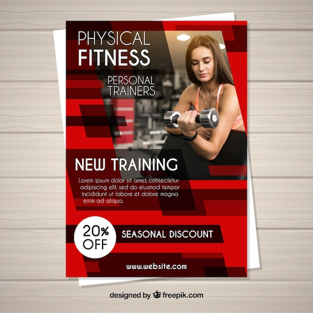 Red Gym Flyer Template Vector Free Download