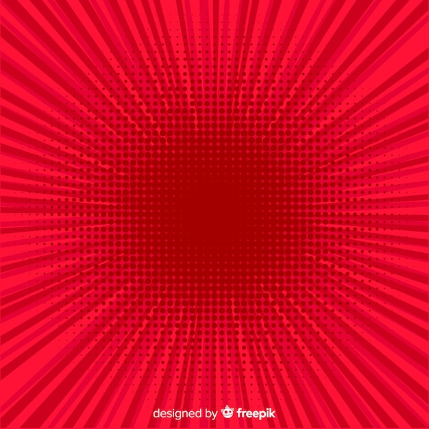 Red halftone comic background Free Vector