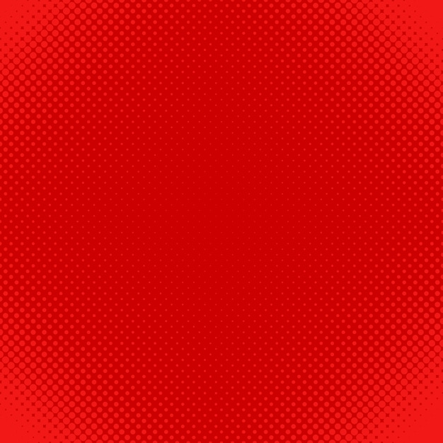 Red halftone dot pattern background - vector design from circles in varying sizes Free Vector