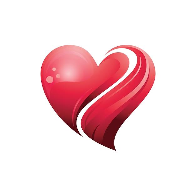 Red Heart Love Care In 3d Symbol Vector Premium Download