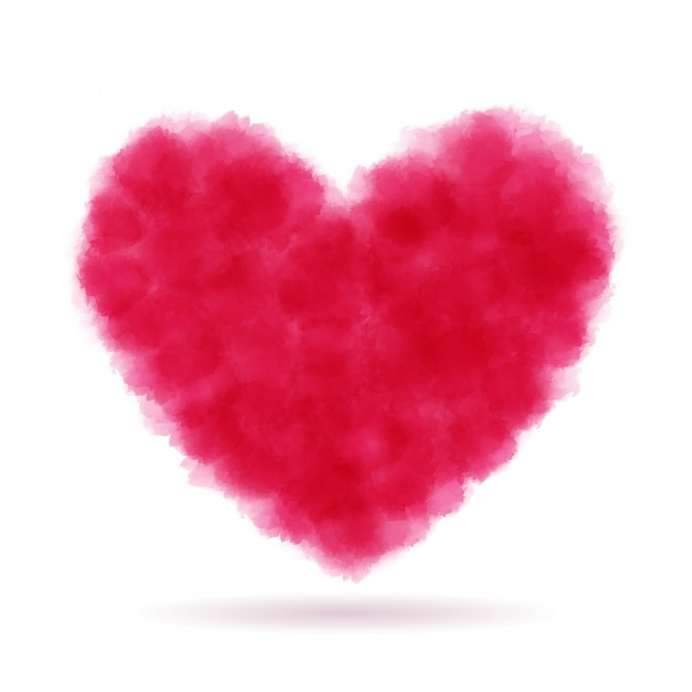 Red heart scribbled Free Vector