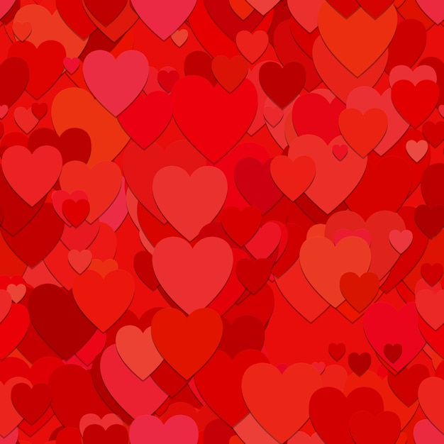 red hearts background vector free download