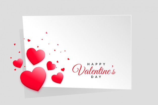 Red hearts valentines day frame with text space Free Vector