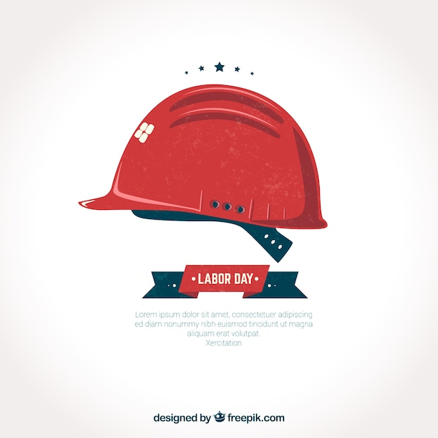 Red helmet labor day background