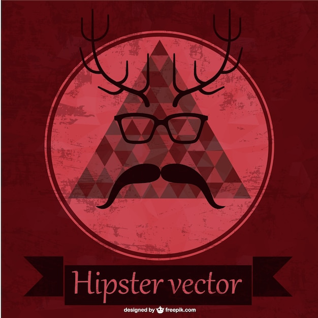 Red hipster background Free Vector