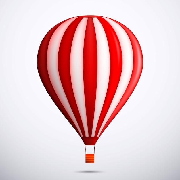 Red hot air balloon illustration Premium Vector