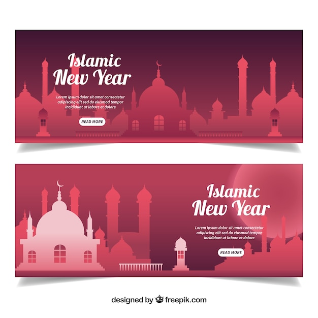 red islamic new year banner stock images page everypixel