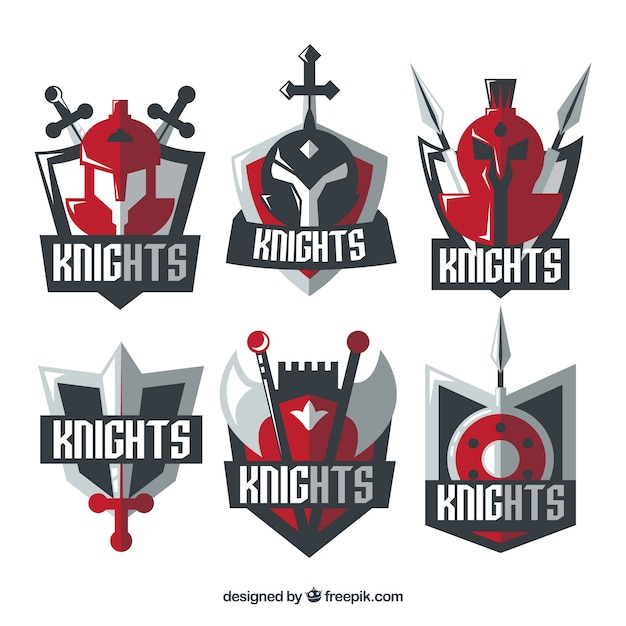 red knight emblem templates vector free download