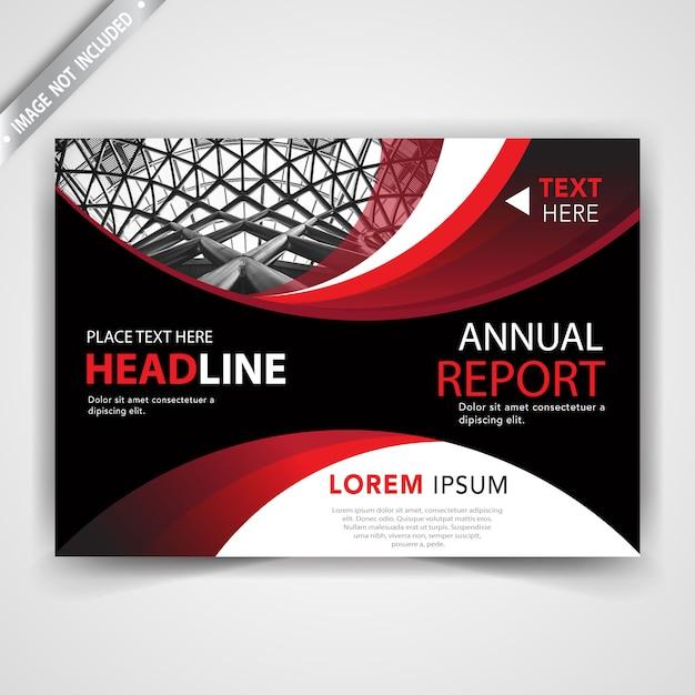 Red leaflet design Free Vector