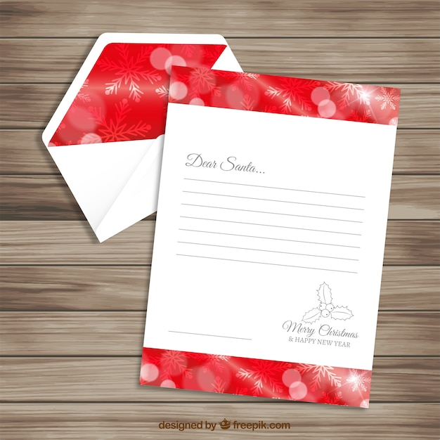 Red letter template and envelope for santa claus vector free red letter template and envelope for santa claus free vector pronofoot35fo Image collections