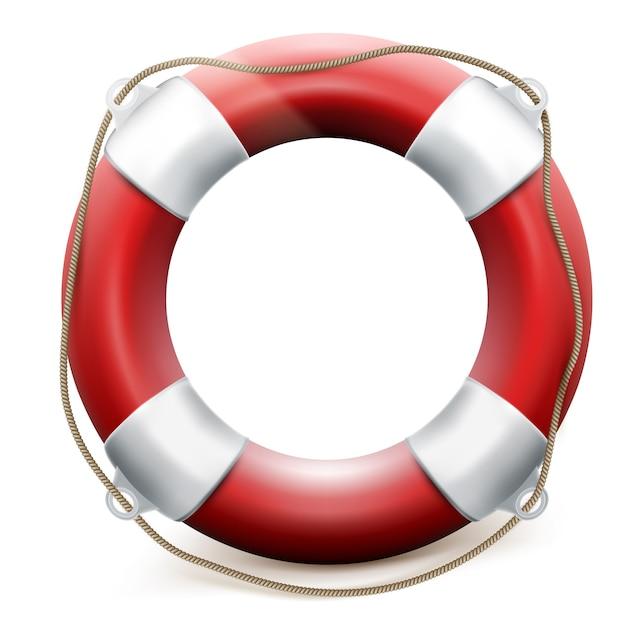 Red life buoy Premium Vector