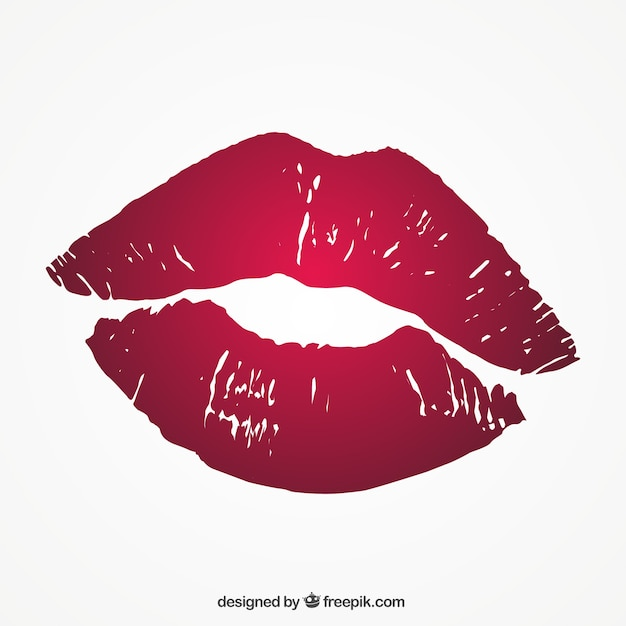 Red lipstick Free Vector