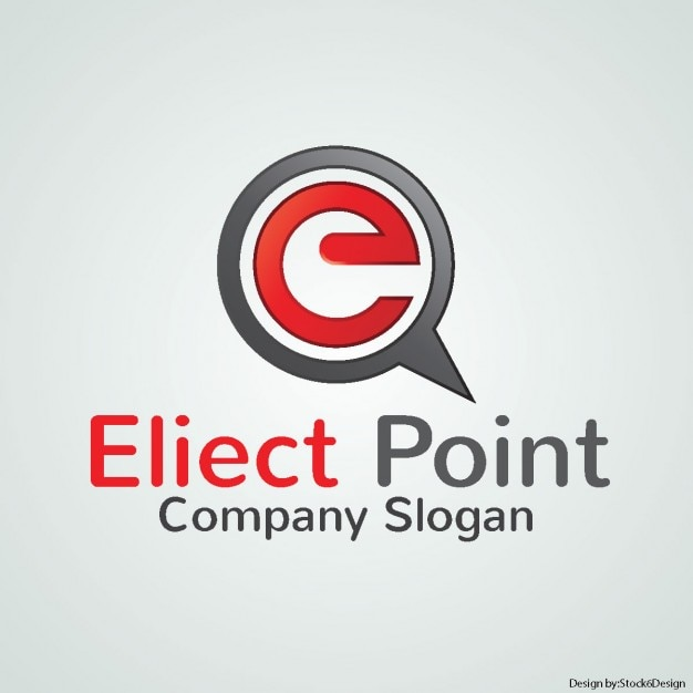 Red logo for a company Free Vector