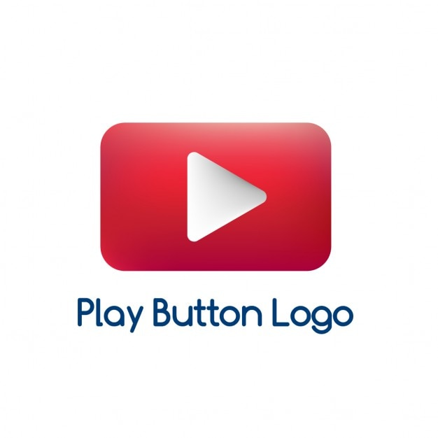 Red logo, play video Vector | Free Download