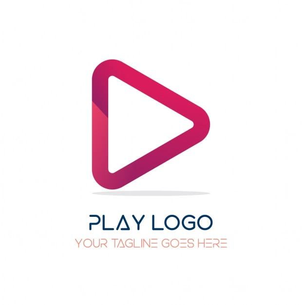 Red logo, play Free Vector