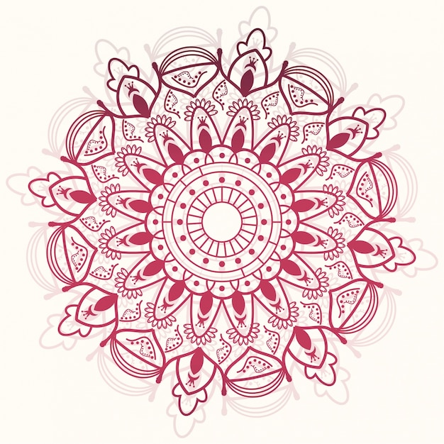 Red mandala ornamental background