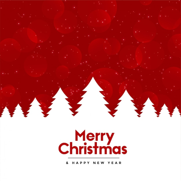 free vector red merry christmas background with tree red merry christmas background
