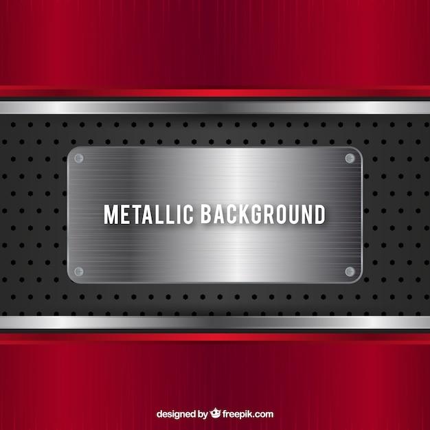 Red metallic background Premium Vector