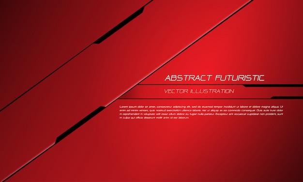 Red metallic black line futuristic design modern technology background. Premium Vector