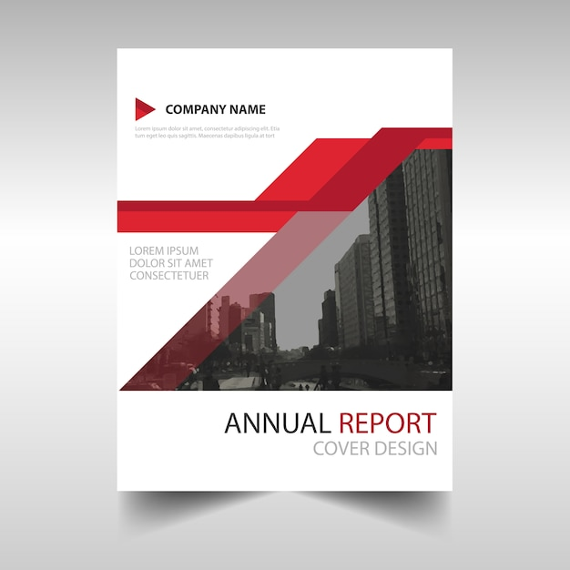 Red Modern Annual Report Template Vector | Free Download