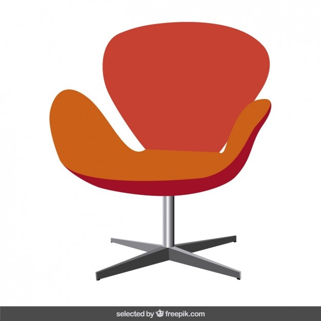 Red Modern Chair Vector Free Download