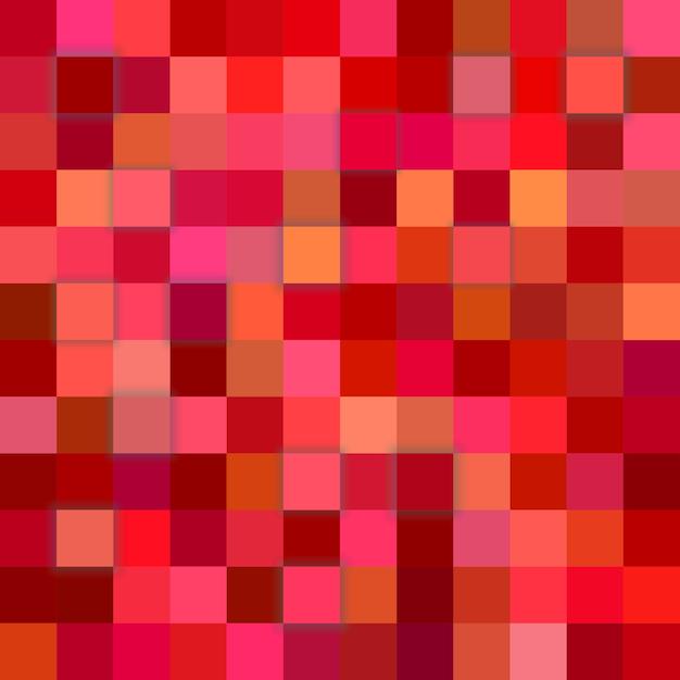 Красный фон мозаики Бесплатные векторы