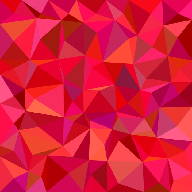 Red mosaic background Free Vector