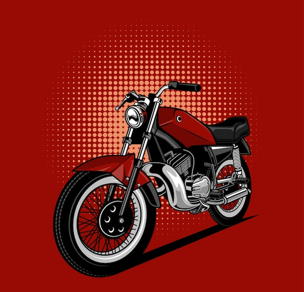Red motorcycles Premium Vector
