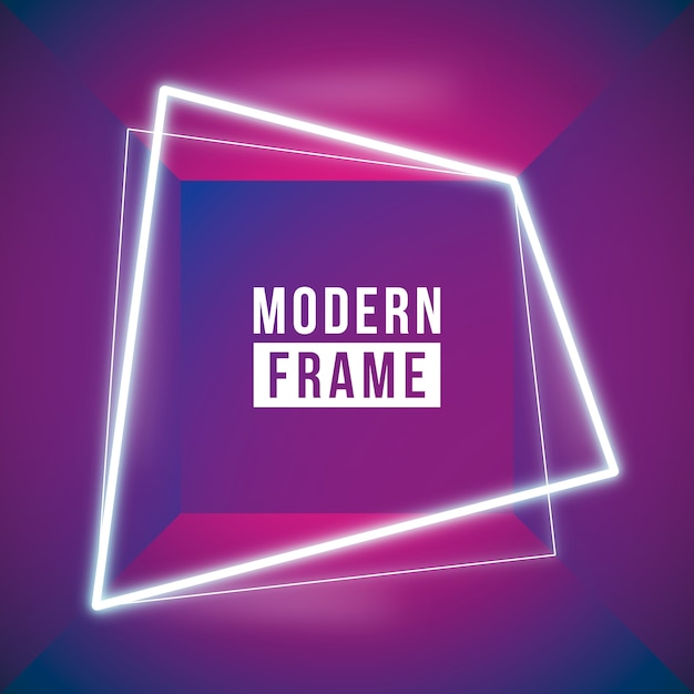 Red neon frame background Free Vector