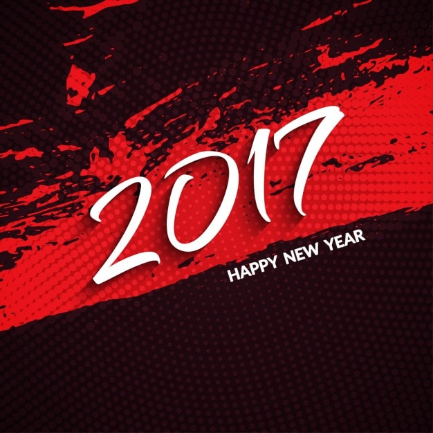 red new year 2017 grunge background vector free download