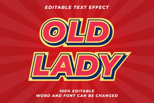 Red old retro text style effect Premium Vector