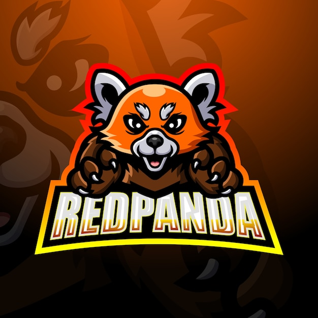 レッサーパンダのマスコットイラスト Premiumベクター