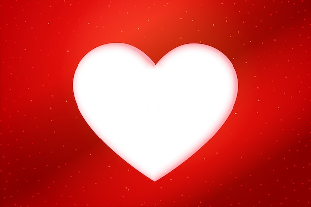 Red papercut style white heart background Free Vector