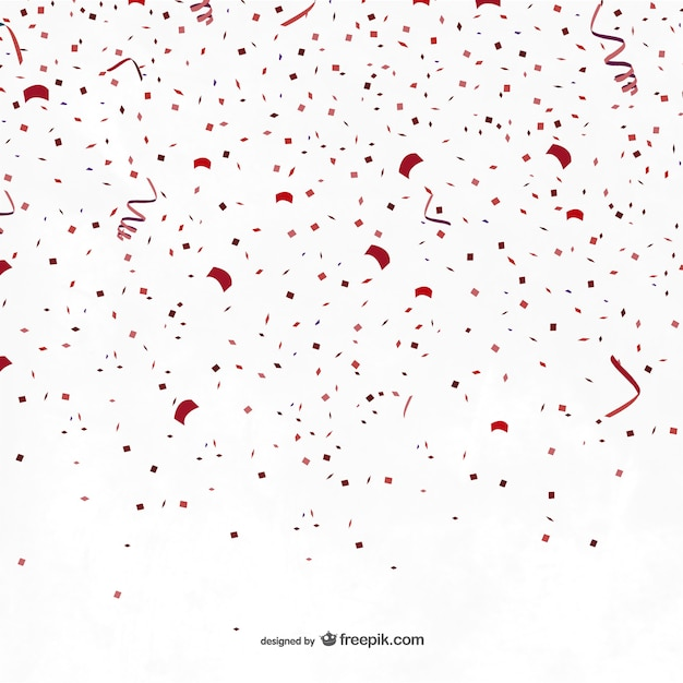 red party confetti vector | free download