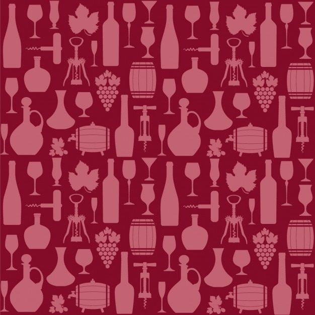 Red pattern of wine elements