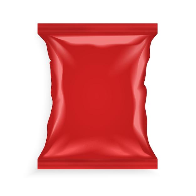 Красный пластиковый пакет Бесплатные векторы