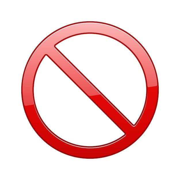 Segno rosso proibito Vettore gratuito