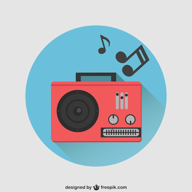 Red Radio Vector Vector Free Download
