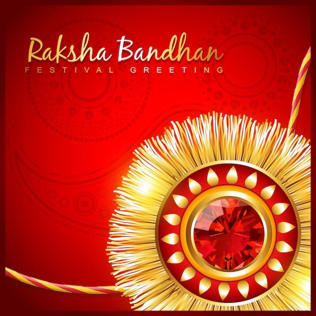 Red raksha bandhan design Premium Vector