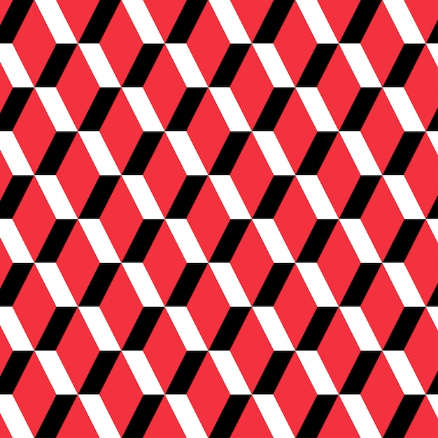 Red rectangle seamless pattern Premium Vector