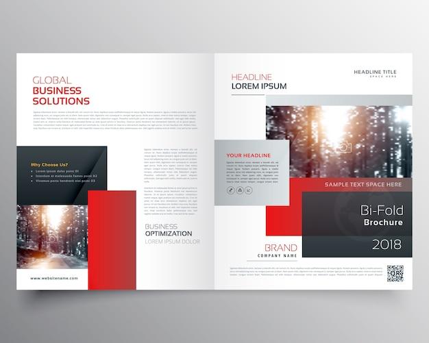Impressionante rivista di design pagina di copertina o una brochure modello bifold Vettore gratuito
