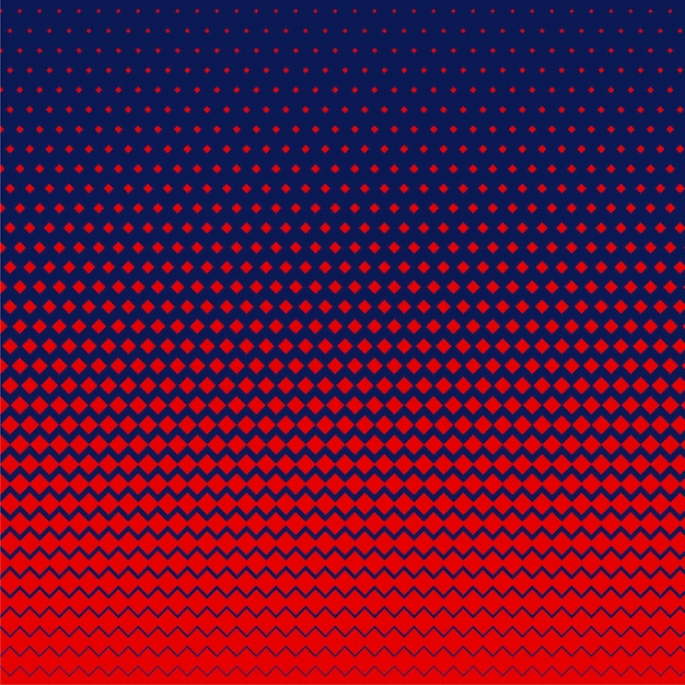 Red rhombus shape halftone background Free Vector