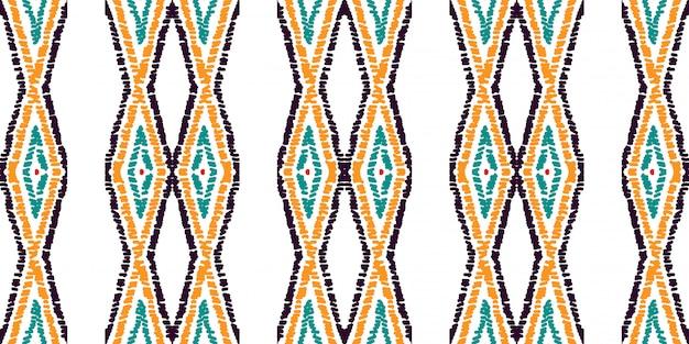 Red rhombus traditional seamless pattern. red batik aztec watercolor motif. mexican tie dye tribal watercolor motif. tie dye. Premium Vector